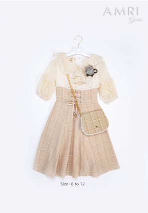 Frilled Checked Dress