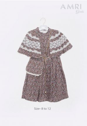 Cape  Printed Frock