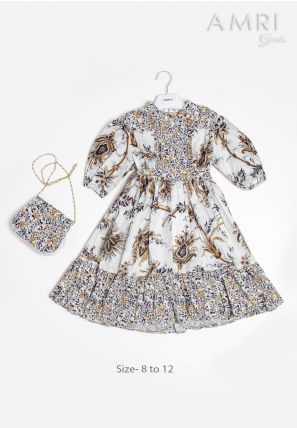 Printed Frilled Frock