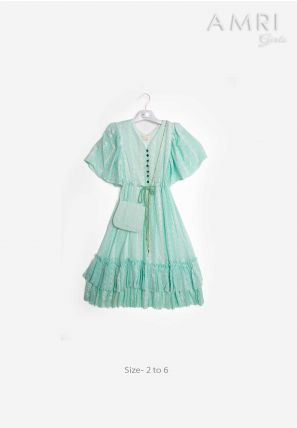 Frilled Accessorized Dress