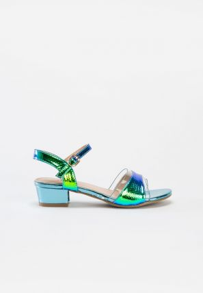 Metallic Rainbow Strap Sandals