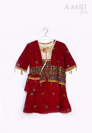 Embroidered Cover-Up Frock