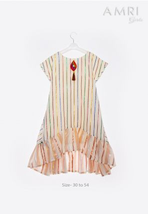 Frilled Strip Frock