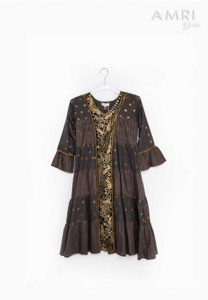Embroidered Frilled Frock