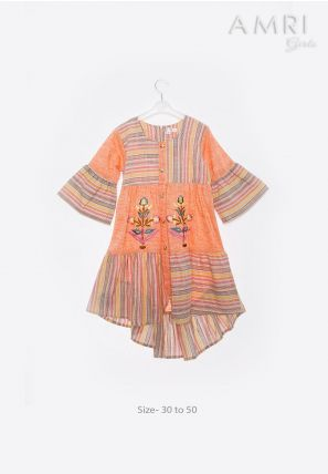 Striped Frilled Frock