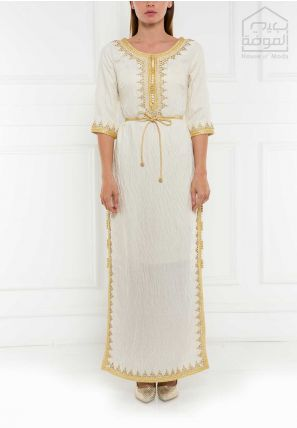 Embellished Side Slitted Long Dress