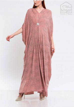V-Neck Embellished Caftan