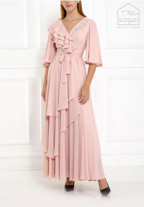 Asymmetrically Flared Long Dress