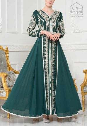 Embroidered Layered long Dress