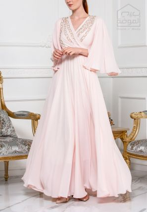 Wrap Over Flared Gown