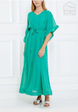 Bell Sleeved Long Dress