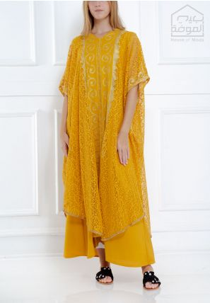 Lace Cover-Up Jalabiya