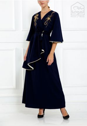 Asymmetrical Embroidered Dress