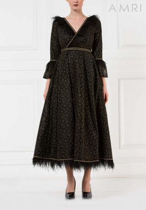 Wrap Over Flared Dress
