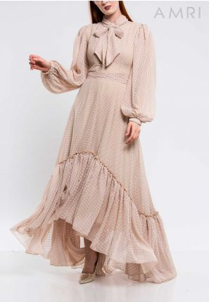 Frilled High-Low Dress