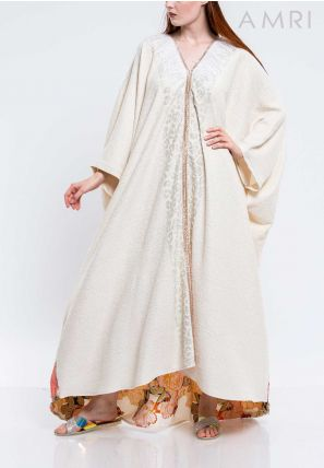 Centre Lace Emboss Detailed Caftan