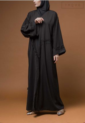 Embroidered Open Abaya