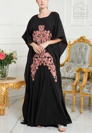 Embroidered Flared Kaftan