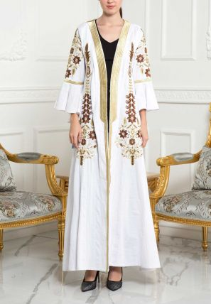 Open Bisht With Embellishments