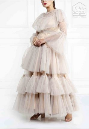 Layered Tulle Gown