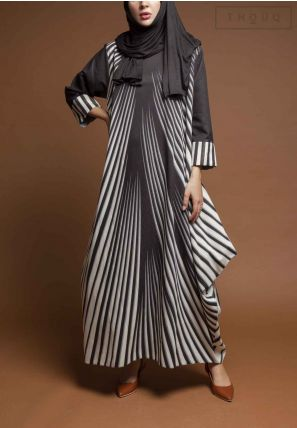 Stripes Printed Jalabiya