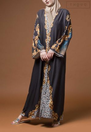 Printed Open Bisht