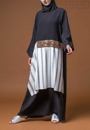Lace Patched Abaya